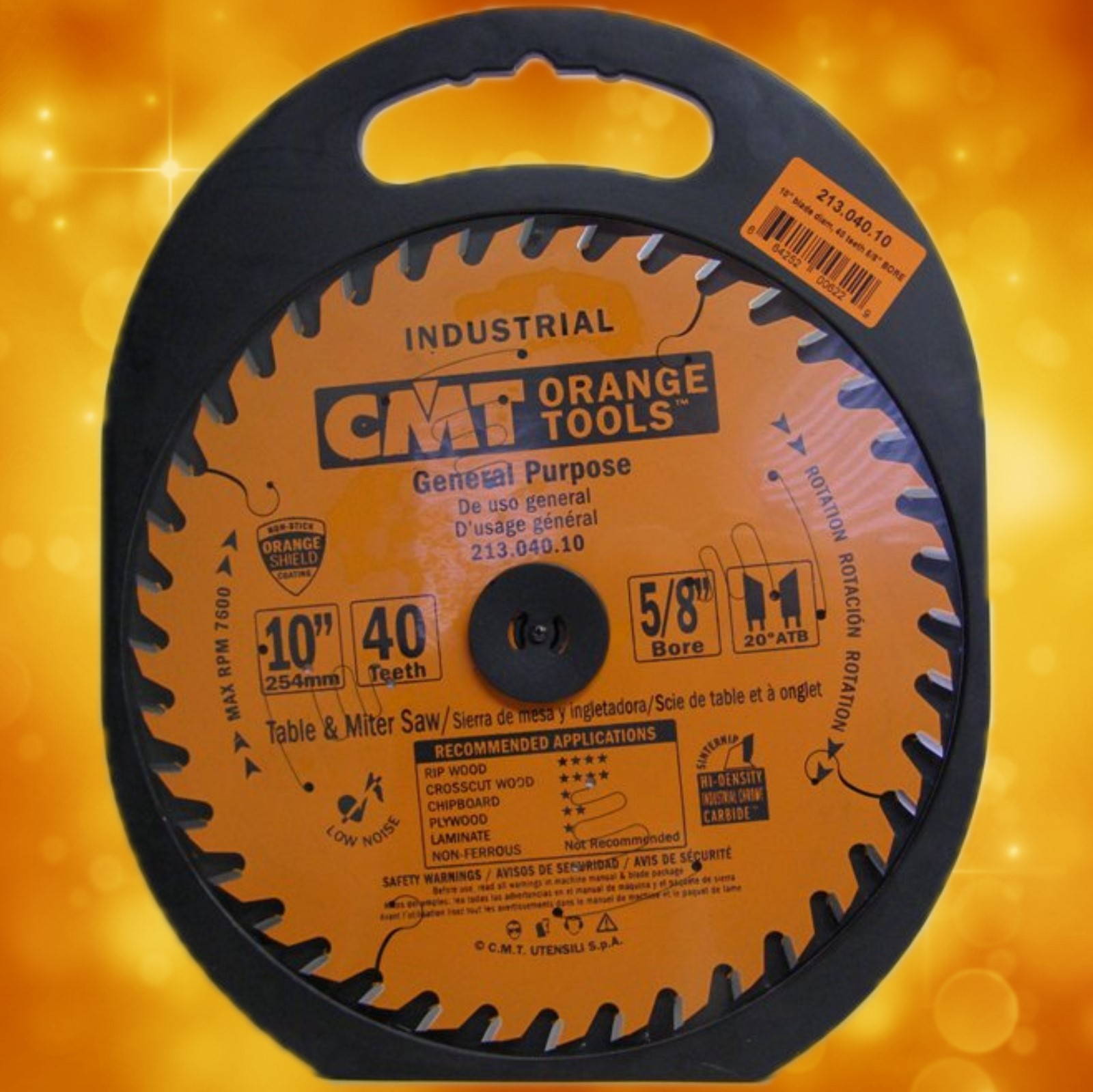 "CMT Carbide Tipped Circular Saw Blade 213.040.10 CMT General Blade, 10"" diameter 213.040.10"