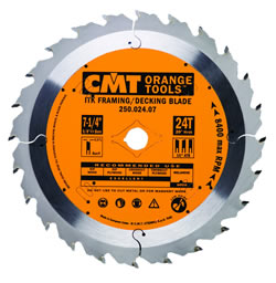 "CMT ITK Framing & Decking Blade, 7.25"" diameter 250.024.07"
