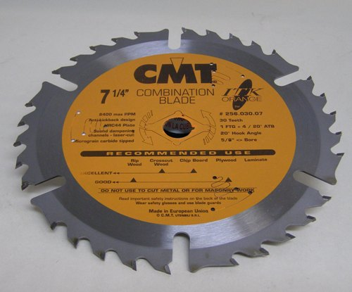 "CMT ITK Combination Blade, 7.25"" diameter 256.030.07"