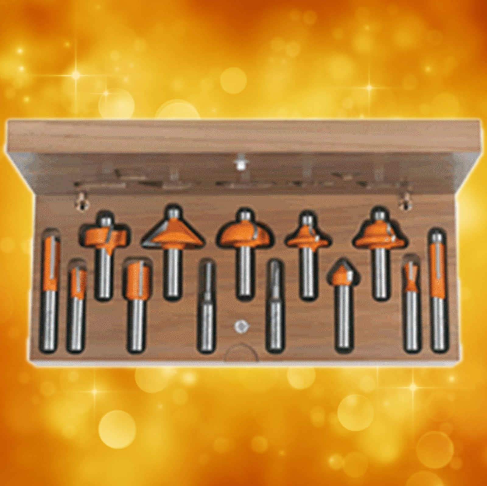 "CMT 13-Piece Router Bit Assortment, 1/2"" shanks 800.505.11"