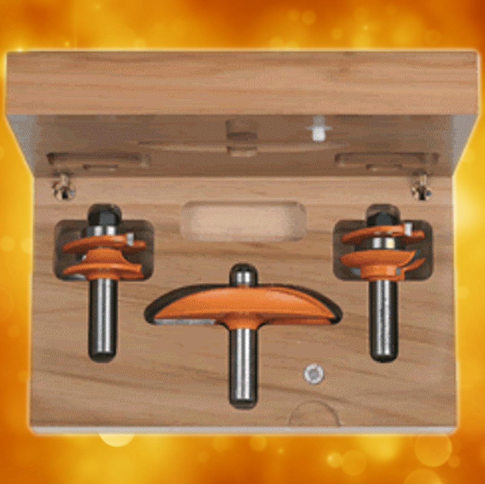 Cmt 3 Piece Kitchen Router Bit Set Profile A2 800 513 11