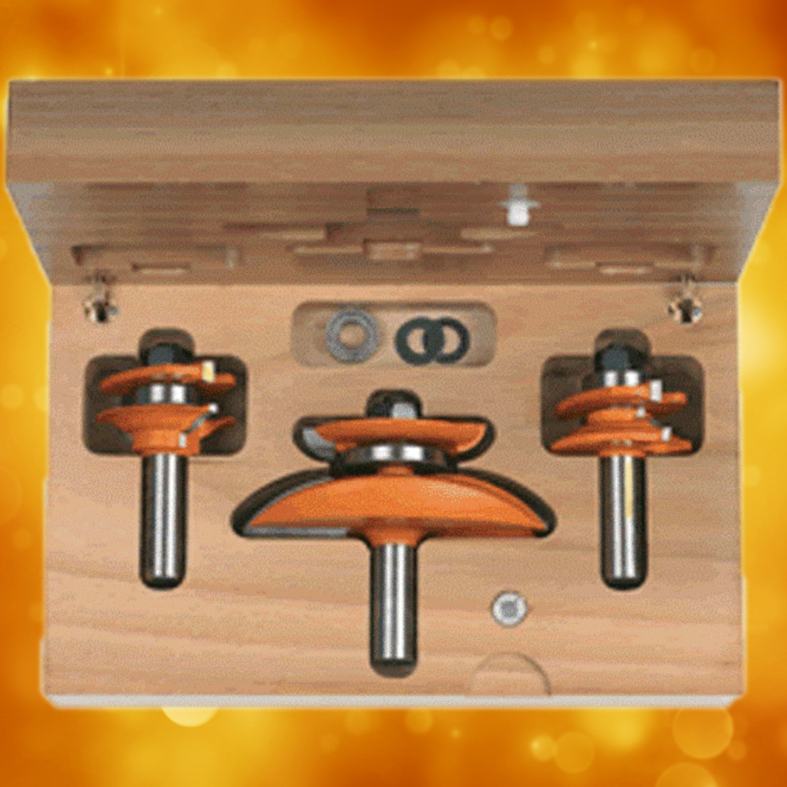 "CMT Ogee Raised Panel Router Bit Set, 1/2"" shank 800.521.11"