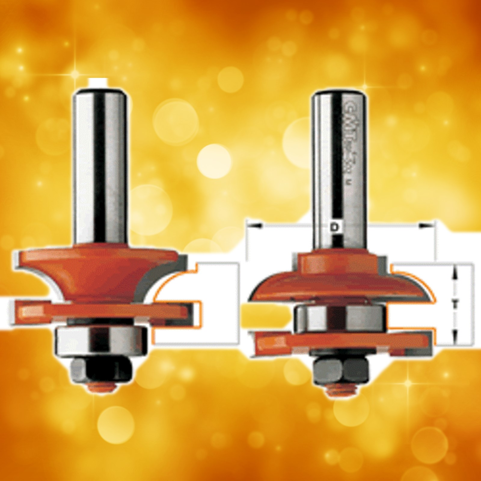 CMT Rail and Stile Router Bit Set 891.502.11 - Profile B