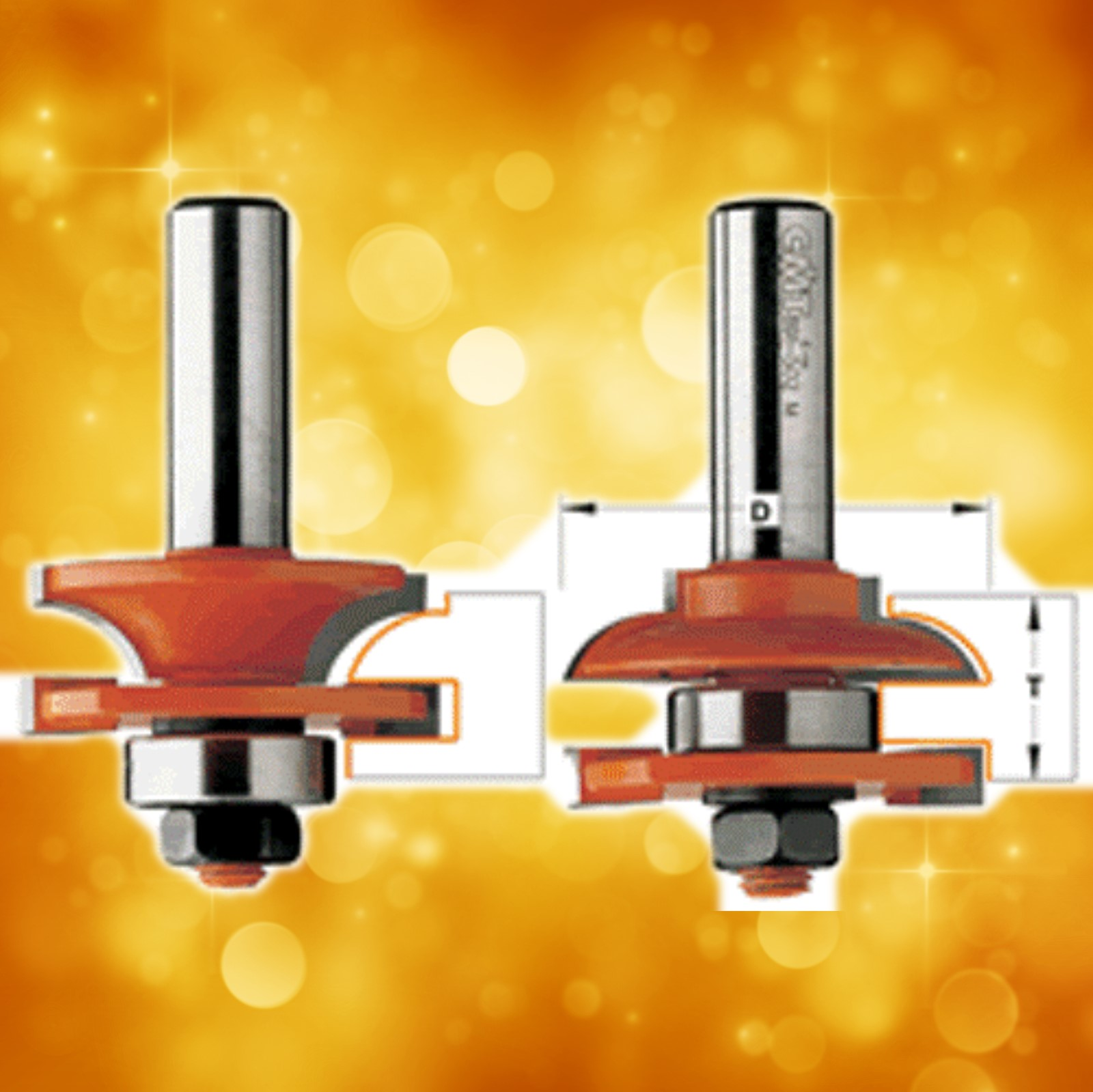 CMT Rail and Stile Router Bit Set 891.503.11 - Profile C