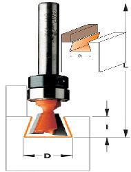 CMT Dovetail Router Bit with Bearing 818.087.11B