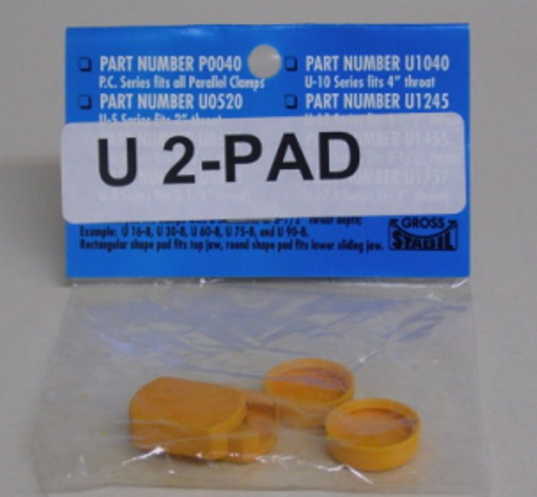 "U-2Pad Gross Stabil Replacement Pads for clamps with 2"" throats (2 pak) U-2Pad"