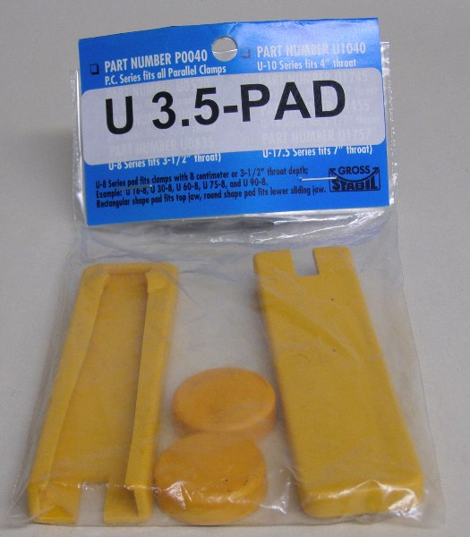 "U-3.5Pad  Gross Stabail Replacement Pads for clamps with 3.5"" throats (2 pak) U-3.5Pad"