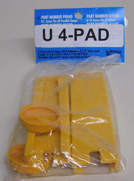 "Gross Stabil Replacement Pads for clamps with 4"" throats (2 pak) U-4Pad"