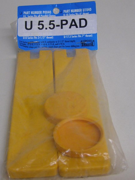 "U-5.5Pad Gross Stabil Replacement Pads for clamps with 5.5"" throats (2 pak) U-5.5Pad"