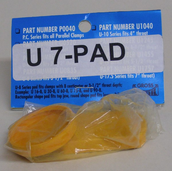 "U-7Pad Gross Stabil Replacement Pads for clamps with 7"" throats (2 pak) U-7Pad"