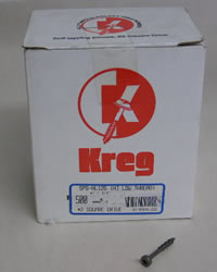 "Kreg Pocket Hole Screws SPS-HL125-500 Kreg 1-1/4"" #7, Self-Tapping, Hi-lo Thread, Pan Head, 500 count SPS-HL125-500"