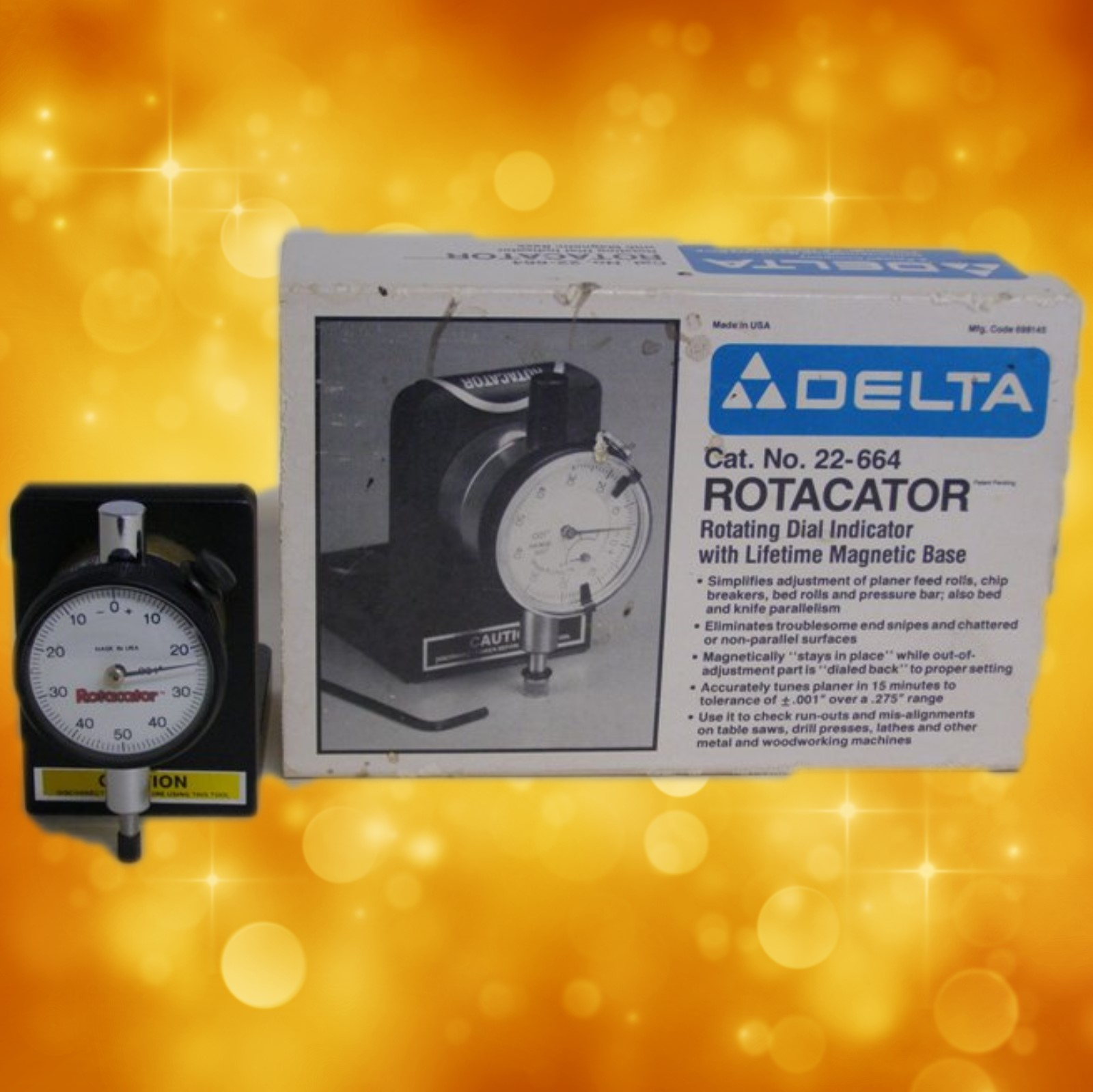 Delta 22-664 Rotacator Dial Indicator (New Old Stock) 22-664
