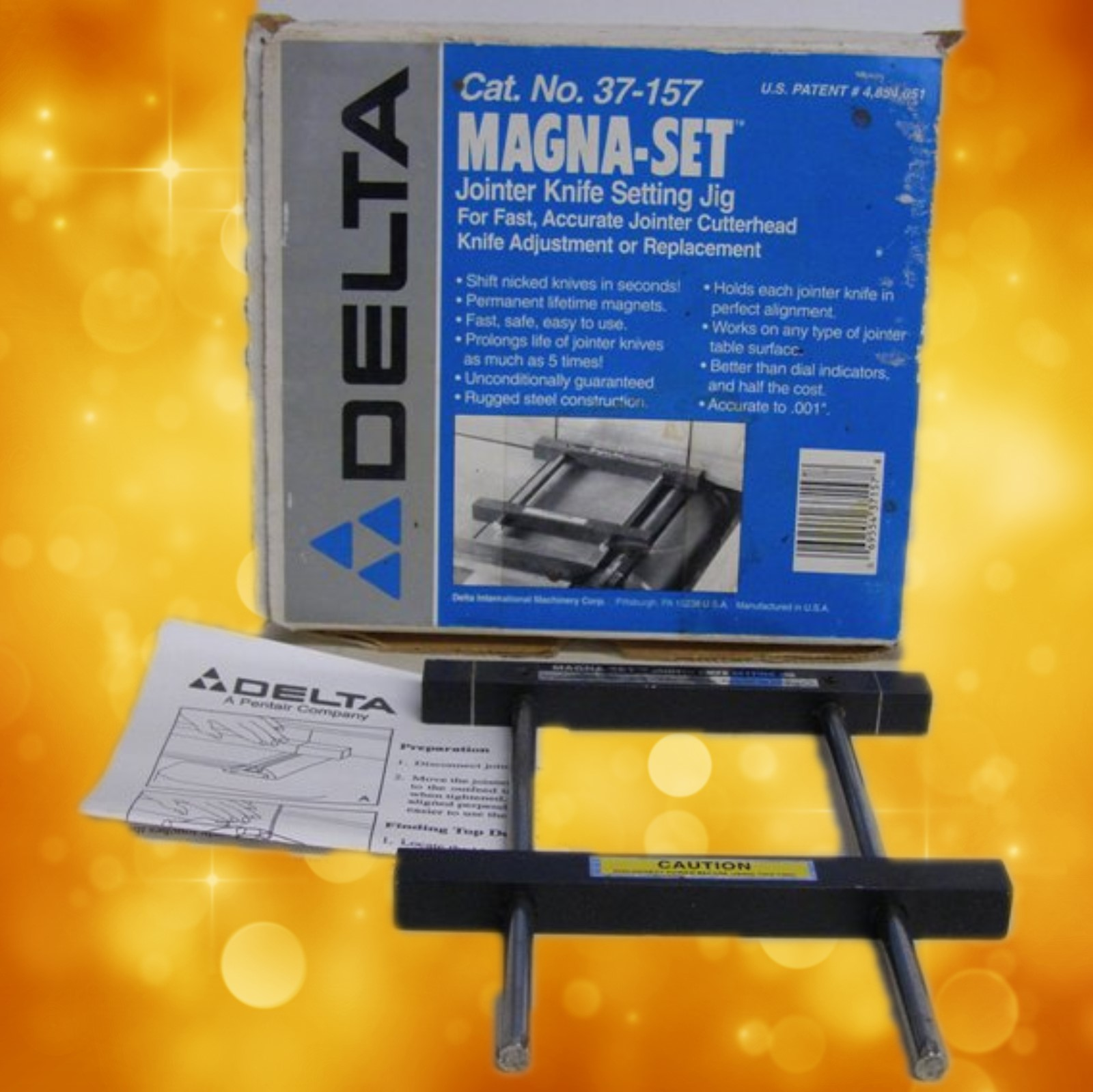 Delta Jointer Knife Jig  37-157 Delta Magna Set Jointer Jig  37-157