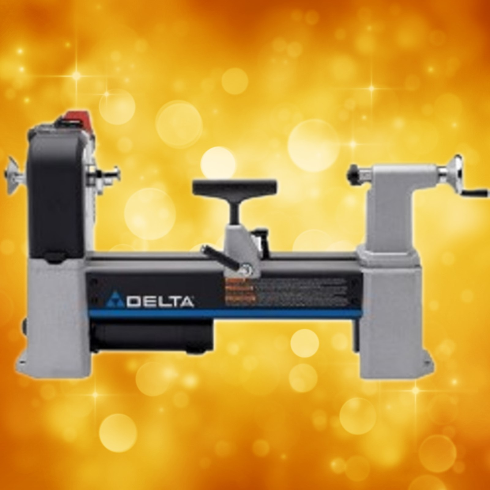 "Delta Wood Lathe 46-460 12-1/2"" Variable-Speed MIDI-LATHE (Floor Model) (In Store Pick up Only) 46-460U"