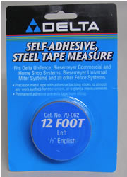 "Delta/Biesemeyer 12' Left Hand 1/2"" width English Tape-79-062"