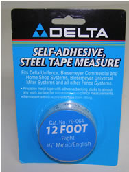 "Delta/Biesemeyer 12' Right Hand 3/4"" width Metric/English Tape-79-064"