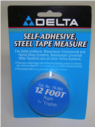 "Delta/Biesemeyer 12' Right Hand, 3/4"" width English Tape-79-065"