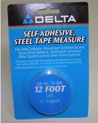 "Delta/Biesemeyer 12' Left Hand, 3/4"" width English Tape 79-066"
