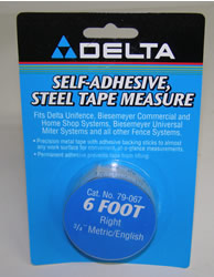 "Delta/Biesemeyer 6' Right Hand, 3/4"" Metric/English Tape-79-067"