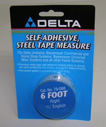 "Delta/Biesemeyer Tape79-068 Delta/Biesemeyer 6' Right Hand, 3/4"" width English Tape"