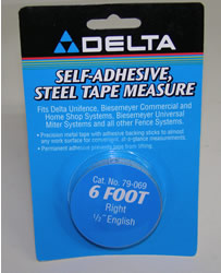 "Delta/Biesemeyer 6' Right Hand, 1/2"" width English Tape 79-069"