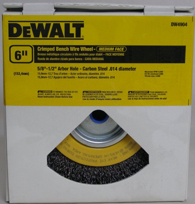 Terrific Dewalt Dw4904 6 Wire Wheel Crimped Bench Wire Wheel 5 8 1 2 Arbor 3 4 Face Width Caraccident5 Cool Chair Designs And Ideas Caraccident5Info