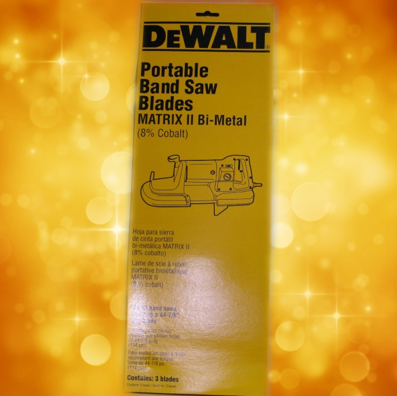 "DeWalt Portable Band Saw Blade DW3983 DeWalt 18 TPI Portable Band Saw Blade (0.020"" 3 pack) DW3983"
