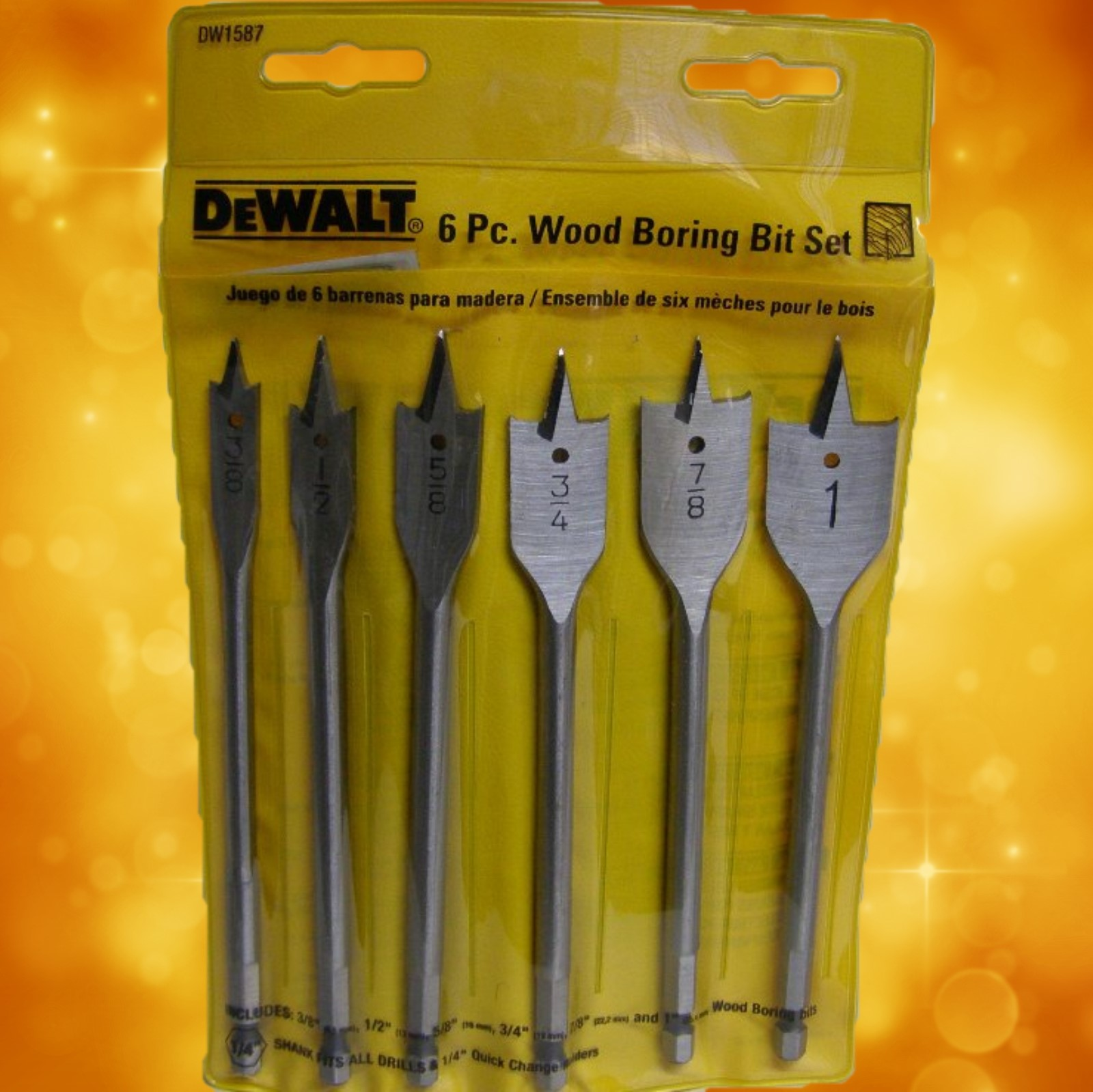 DeWalt 6 Pc. Wood Boring Bit Set DW1587