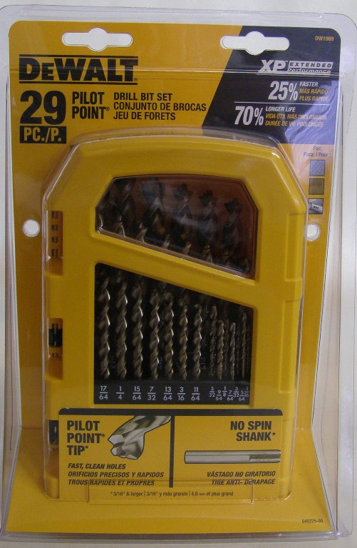 Dewalt Drill Bit 29 Pc Pilot Point 174 Set Dw1969 Mike S Tools