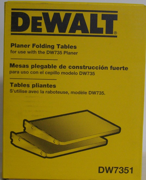 DEWALT 13 in Folding Tables for Planer Increased Productivity