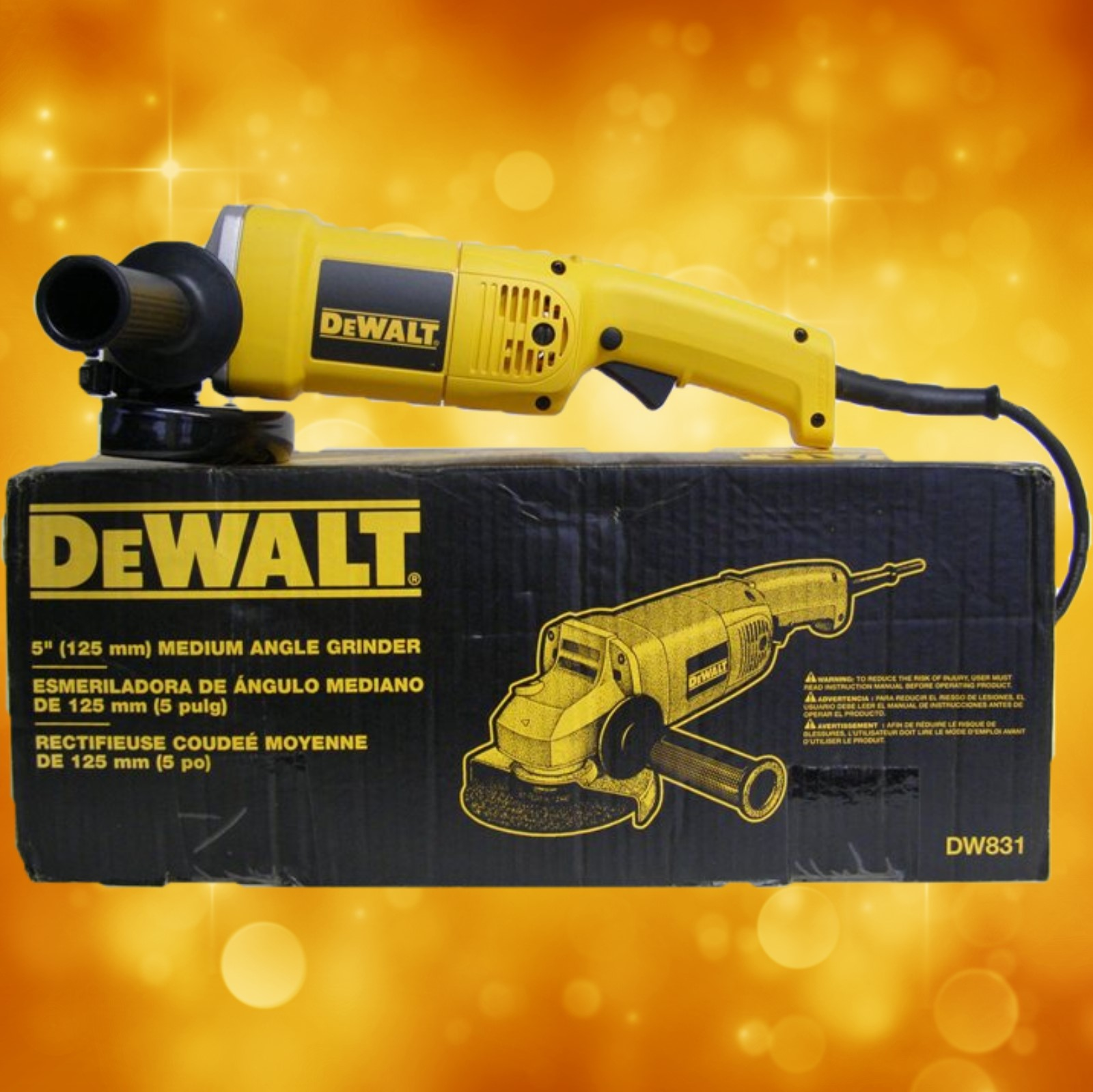 "DeWalt Heavy Duty 5"" Medium Angle Grinder DW831 DeWalt Heavy Duty 5"" Medium Angle Grinder DW831"