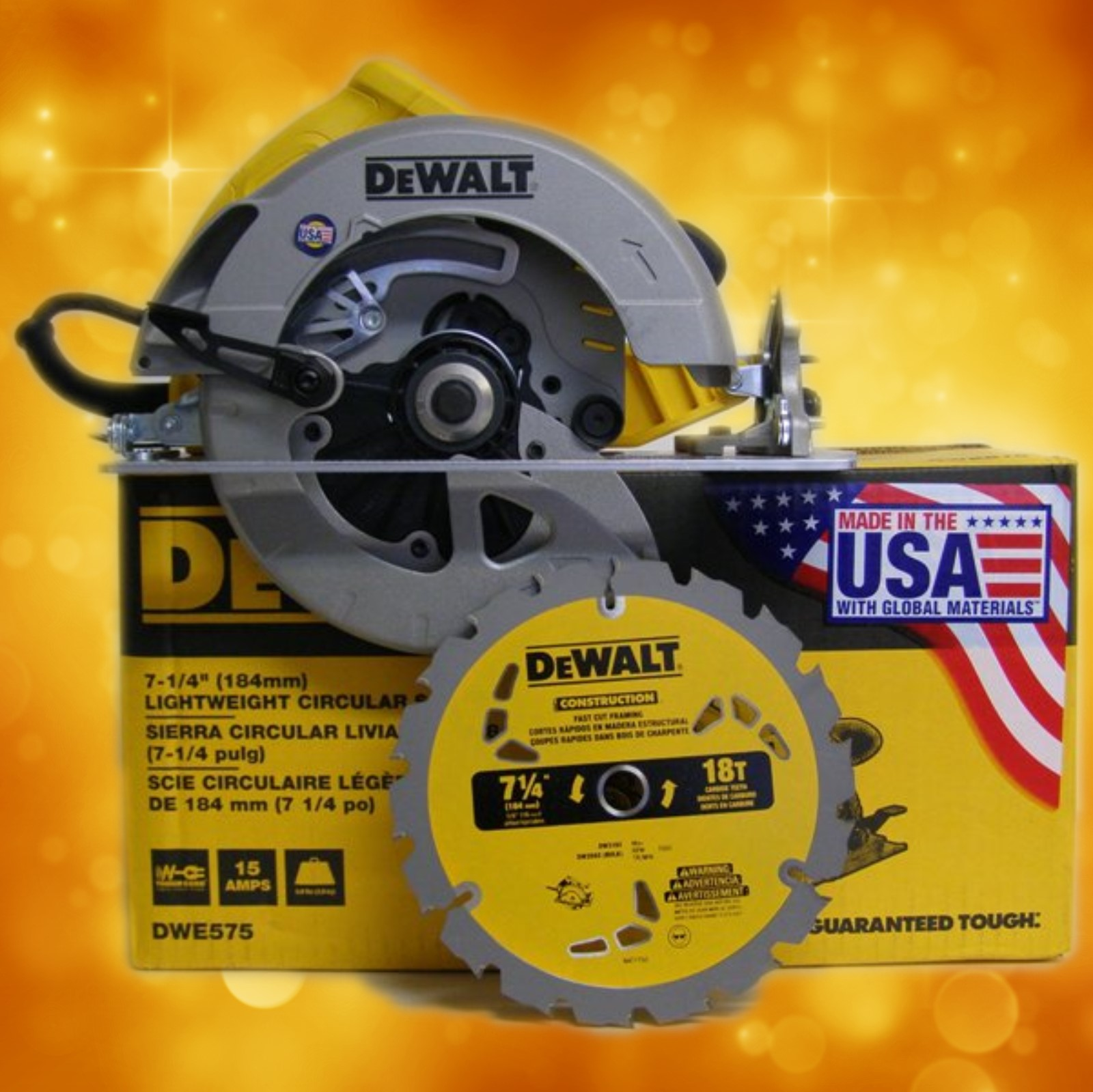 "DeWalt 7-1/4"" DWE575 Light Weight Circular Saw DWE575"
