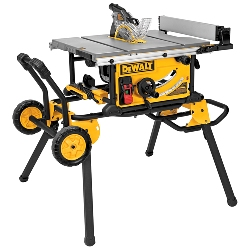 "DeWalt 10"" Jobsite Table Saw 32 - 1/2"" (82.5cm) Rip Capacity, and a Rolling Stand DWE7491RS DWE7491RS"