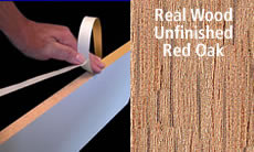 "FastCap Edge Banding Tape 15/16 "" 50 ft Roll Unfinished Solid Wood (Red Oak)"