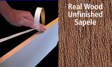 "FastCap FastEdge Edge Banding Tape 15/16"" 50 ft Roll Unfinished Solid Wood (Sapele)"