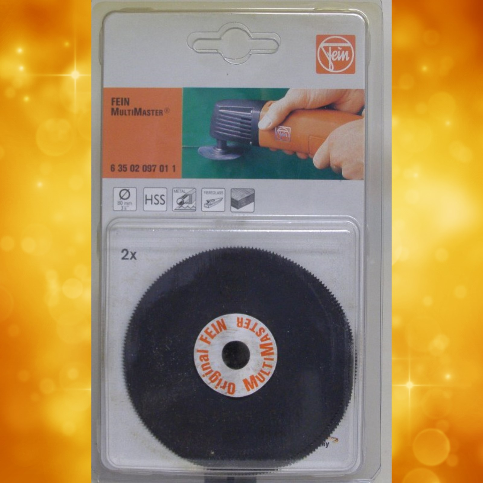 Fein Blades for Cutting Sheet Metal, Fiberglass, or Wood. 3-1/8 in. Diameter Pack of 2 6-35-02-097-01-1a 6-35-02-097-01-1a