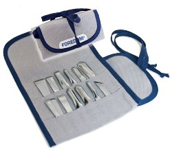 Foredom AK510 Chisel Set in Canvas Pouch, 12Pc AK510