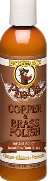 Howard's Pine Ola Brass and Copper Polish CB008 Howard's Pine Ola Brass and Copper Polish 8oz. (1/2 Pint)  CB008