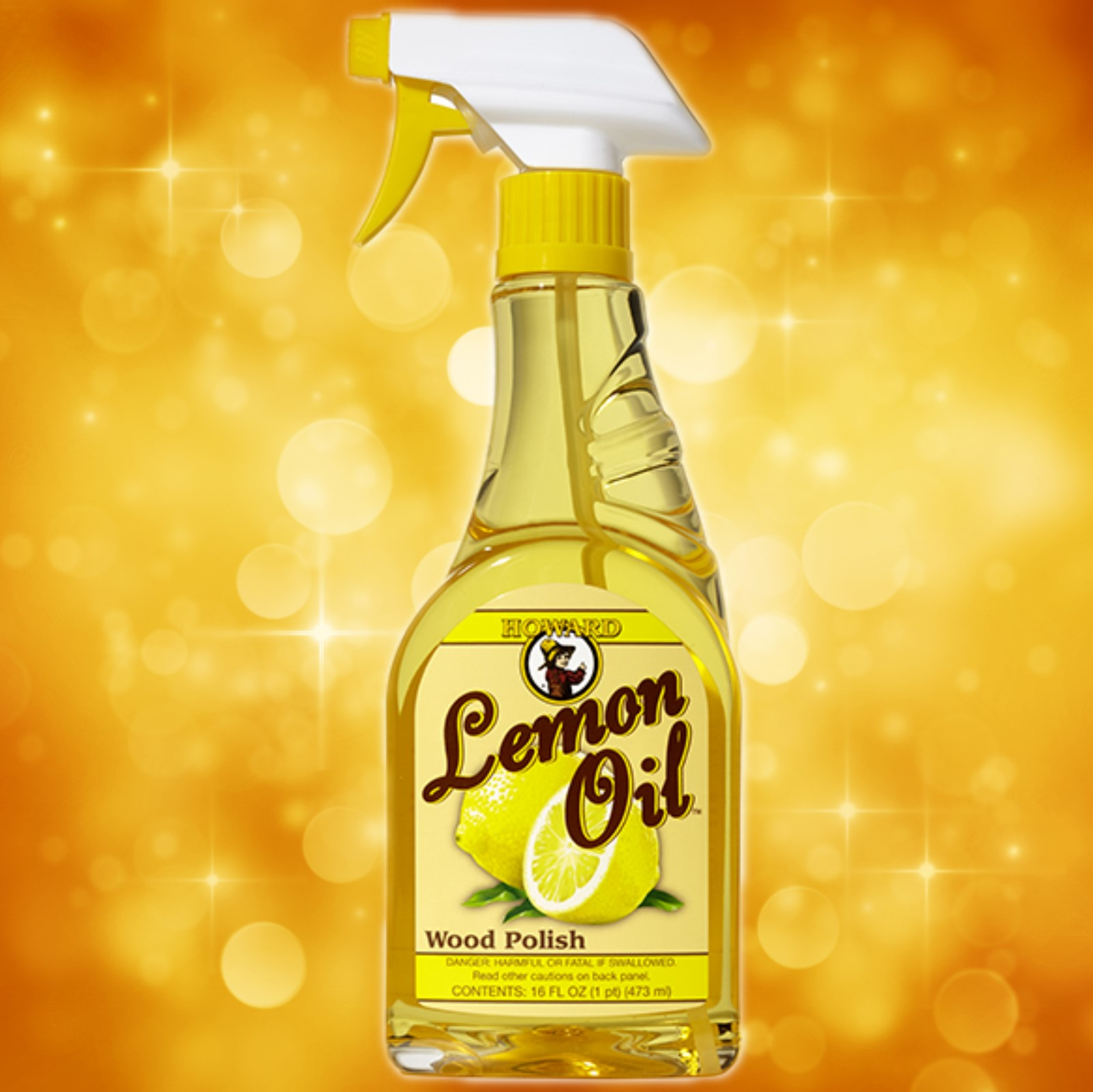 Howard's Lemon Oil 16 oz Spray LM0016