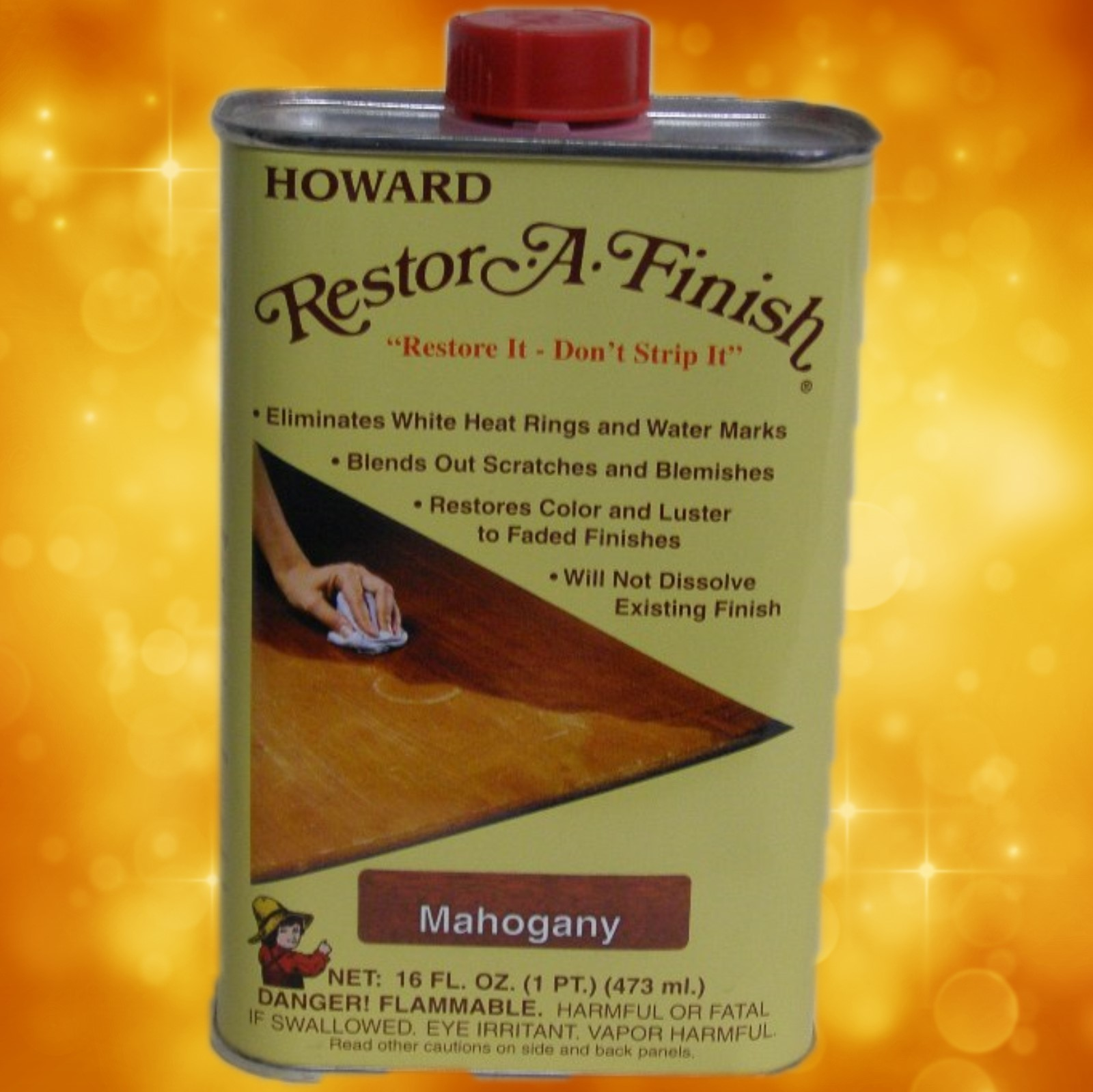 Howard's Restor-A-Finish RF5016 16oz. Mahogany RF5016a