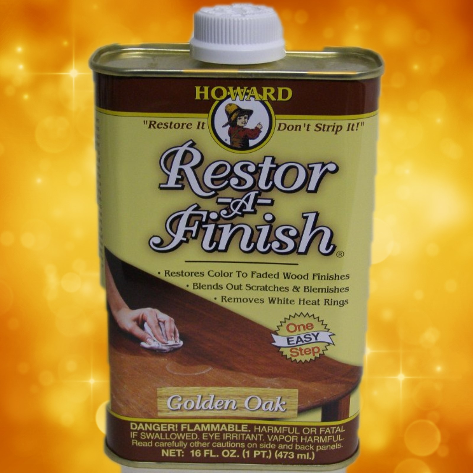 Howard's Restor-A-Finish RF3016 16oz.Golden Oak RF3016a
