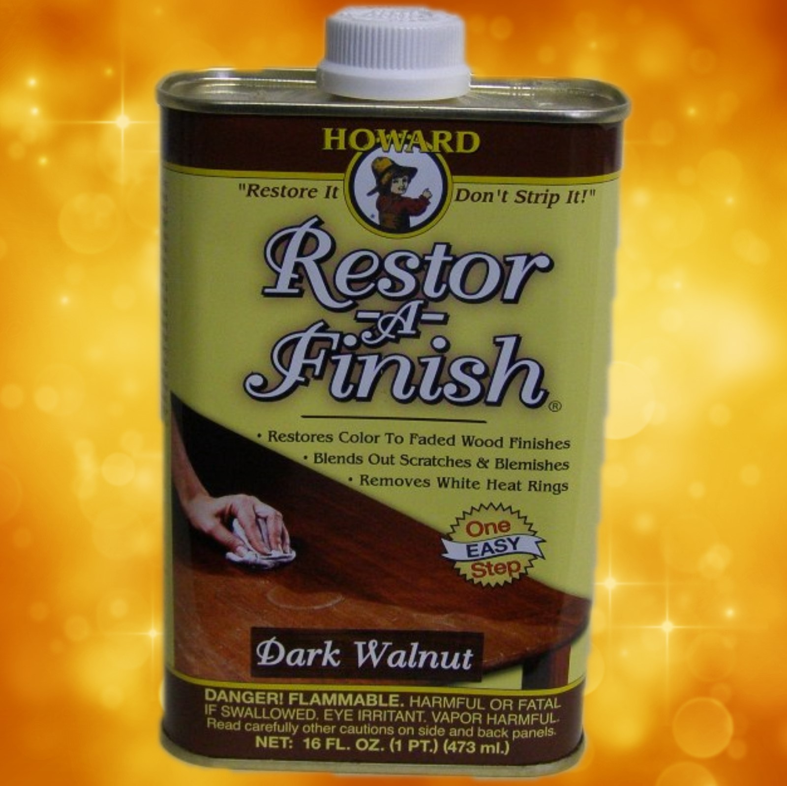 Howard's Restor-A-Finish RF6016 16oz.Dark Walnut RF6016a