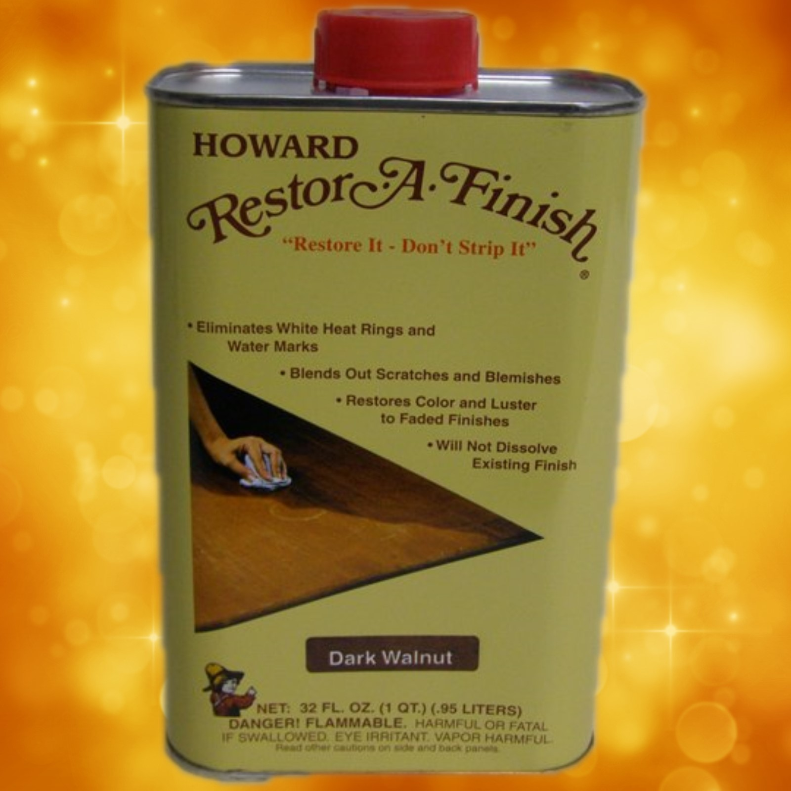 Howard's Restor-A-Finish RF6032 32oz. (1 Quart) Dark Walnut RF6032a