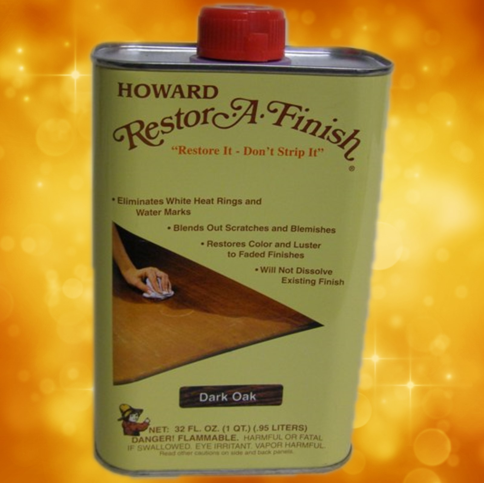 Howard's Restor-A-Finish RF7032 32oz. (1 Quart) Dark Oak RF7032a