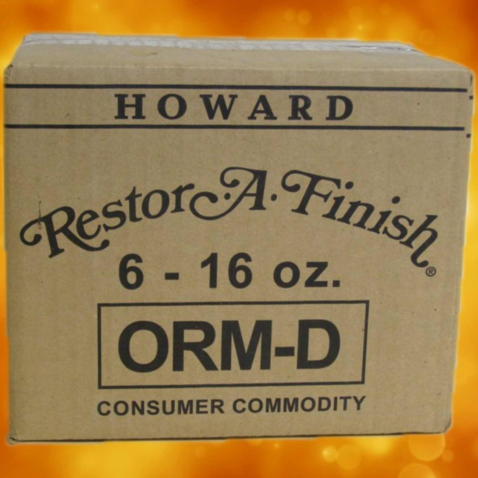 Howard Restor-A-Finish RF016 Ebony Brown 6 Pack RF8016a