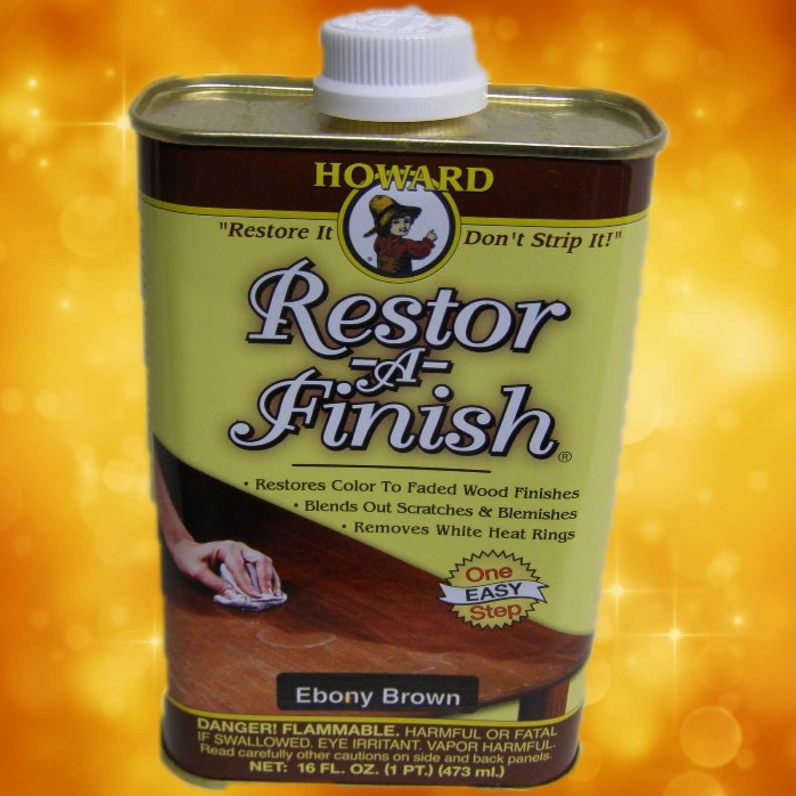 Howard's Restor-A-Finish RF8016 16oz. Ebony Browm RF8016b