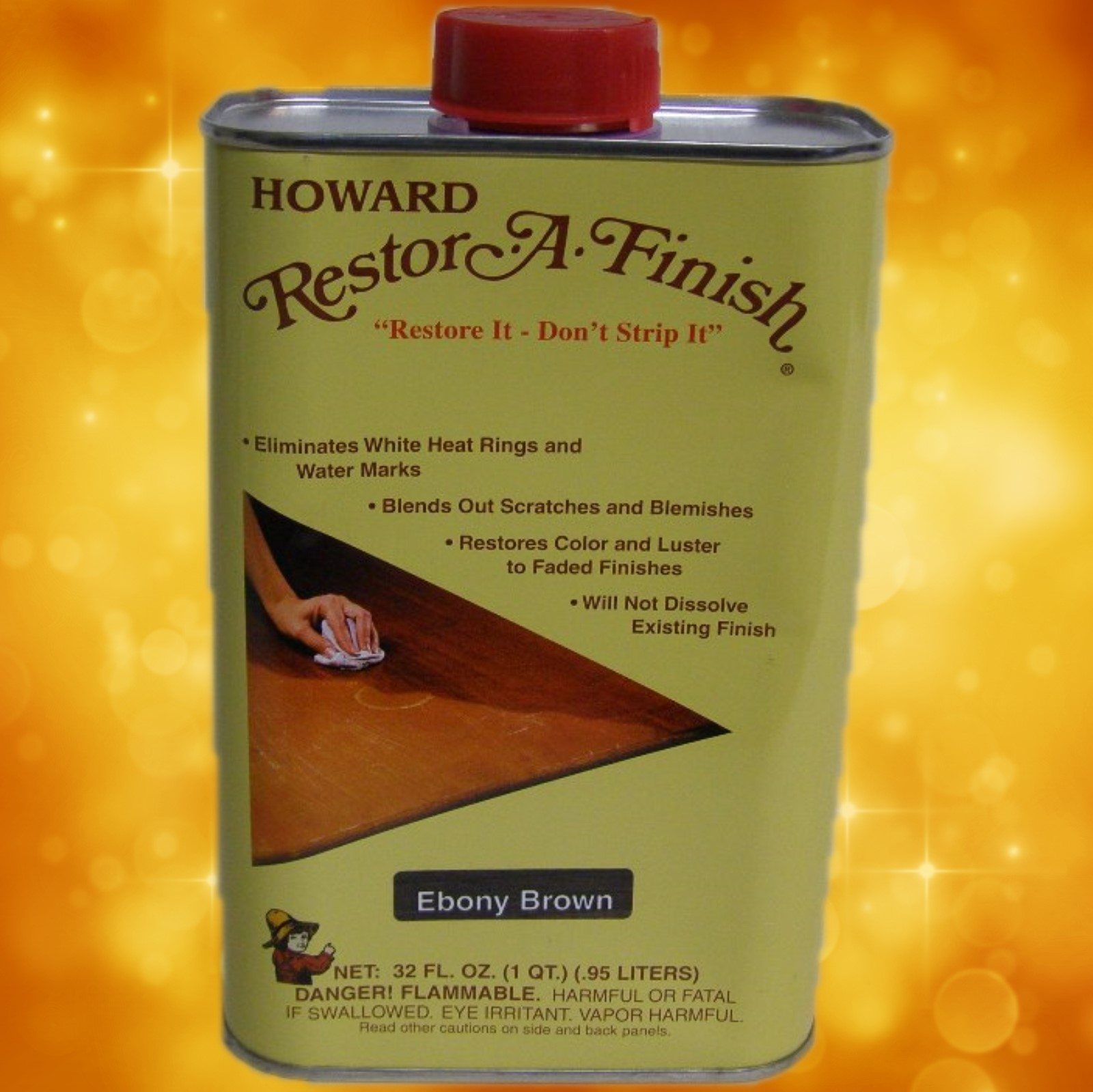 Howard's Restor-A-Finish RF8032 32oz. (1 Quart) Ebony Brown RF8032a