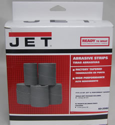 Jet Sand Paper 60-2080 Ready-To-Wrap Abrasives, 80 grit, 3-wraps in Box for 22-44 60-2080