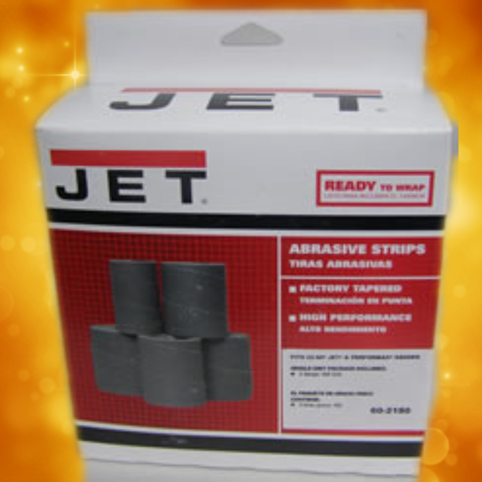 Jet Sand Paper 60-2180 Ready-To-Wrap Abrasives, 180 grit, 3-wraps in Box for 22-44 60-2180