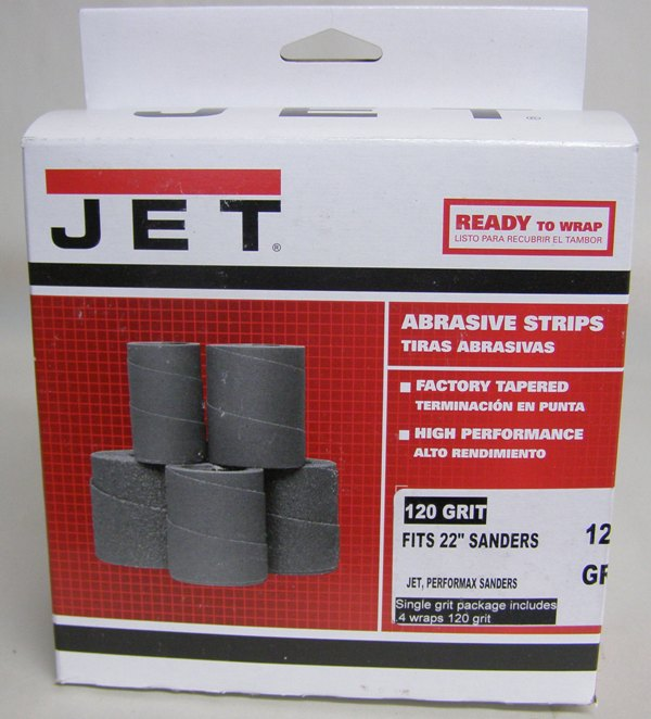 Jet Sand Paper 60-6120 Ready-To-Wrap Abrasives, 120 grit, 4-wraps in Box for 16-32 60-6120